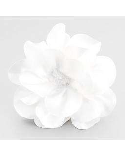 Kwiatek przypinka do przyszycia biały KW04