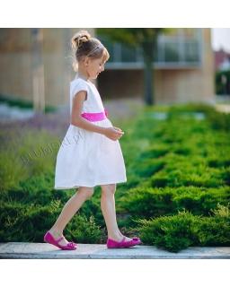 Sukienka w kolorze ecru z koronką 74 - 158 Patrycja