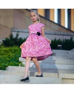 Piękna sukienka dziewczęca w kwiatowy wzór 74 - 158 Amanda