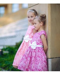 Sukienka w barwnej kolorystyce dla dziewczynki 74-158 Elodi