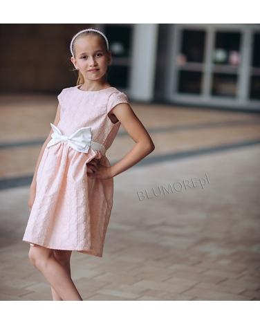 db4a2a540c Sukienka na wesele dla dziewczynki 74 - 158 Laura łososiowa