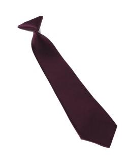 Krawat dziecięcy na gumce ciemny fiolet 30 cm