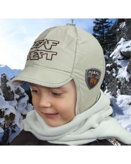 Sportowa śniegowa czapka na kulig, sanki oraz narty 46-50