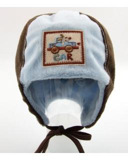 Chłopięca czapka wykonana z ciepłego polaru na chłodniejsze dni 44