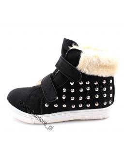 Buty dla dziewczynki na zimę 25 -36 sn03 czarne