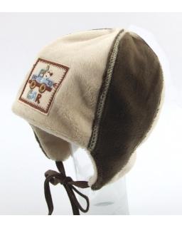 Przytulna czapka dla chłopca na podwórko 40