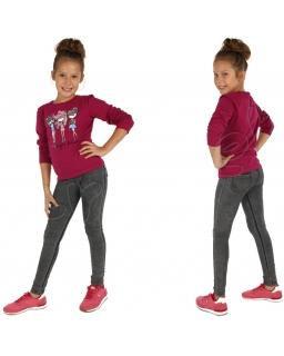 Dżinsowe legginsy 116 - 158 lgg01 czarne