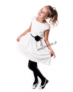 Cudna suknia wzorzysta 74 - 158 Amanda ecru z czernią
