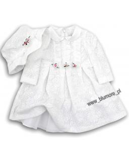 Koronkowy komplet na chrzest 68 - 86 Alicja biel