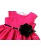 Sukienka z czarnym paskiem i kwiatkiem 62 - 152 Samanta fuksja