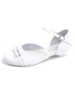 Cudne buciki komunijne dla dziewczynki 28 - 38 bk06 białe