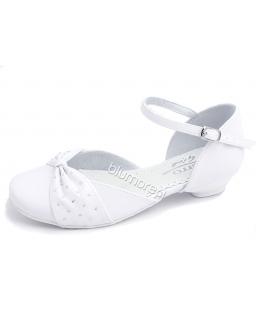 Śliczne białe buciki Zarro na komunię 28 - 38 Karolcia białe