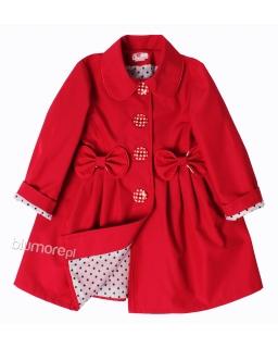 Uroczy płaszczyk dla dziewczynki 86-134 Stella czerwony