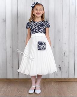 Sukienka balowa dla dziewczynki 98 - 128 Paulina granat i koral