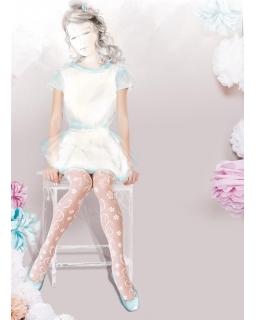 Rajstopy Gatta dla dziewczynki 116 - 158 Alice LUX białe wz04