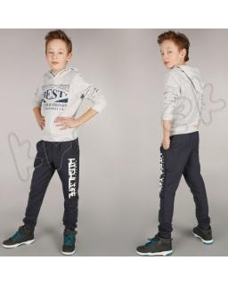 Chłopięce dresy z modnym nadrukiem 116 - 152 spd02 grafit