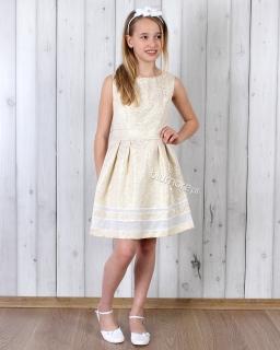 Szałowa sukienka młodzieżowa 110 - 164 Lawinia złota