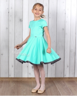 Elegancka sukienka szyta z koła 98 - 158 Oleńka mięta