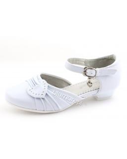 Świetne butki do komunii na obcasiku 29 - 35 bk09 białe