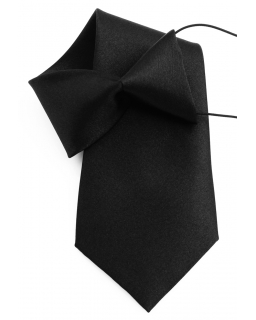 Klasyczny krawat na gumce 31-32 cm czarny