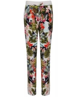Spodnie we wzory 152 - 170 BGSK-7939 biały w kwiaty