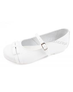 Lakierowane balerinki do pięknej sukni 27 - 37 Merida biały