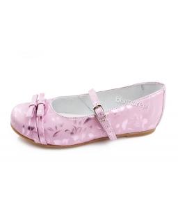Różowe balerinki Zarro dla dziewczynki 27 - 33