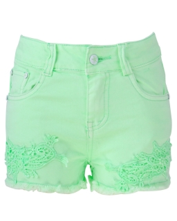 Neonowe szorty dla dziewczynki 116 - 128 GMK-8296 zieleń