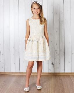 Śliczna prosta żakardowa sukienka 110 - 152 Lawinia 2 złota