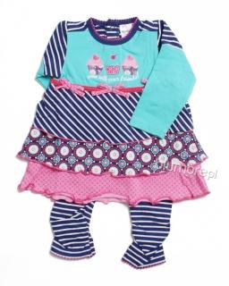 Słodka sukienka z legginsami 62-80 Suzi