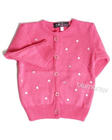 Elegancko-sportowy sweterek 80-104 Moli róż
