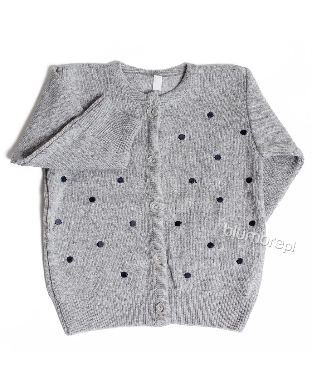 5e9312d427 Sportowy sweterek w groszki 80 - 104 Moli szary