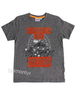 Chłopięcy T-shirt 122-158 BCH-01 szary