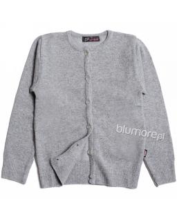 Zapinany sweterek dla dziewczynki 110 - 152 Ala szary