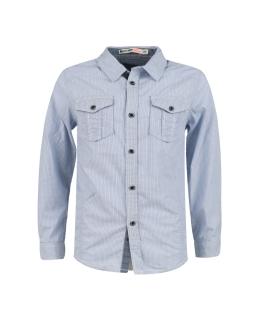 Koszula chłopięca w drobną kratkę BCS-967 niebieska