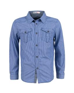 Chłopięca koszula w paski 104-128 BCS-9673 niebieska