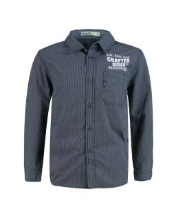 Koszula dla chłopca w kratkę 134-164 BCS-9676 granat