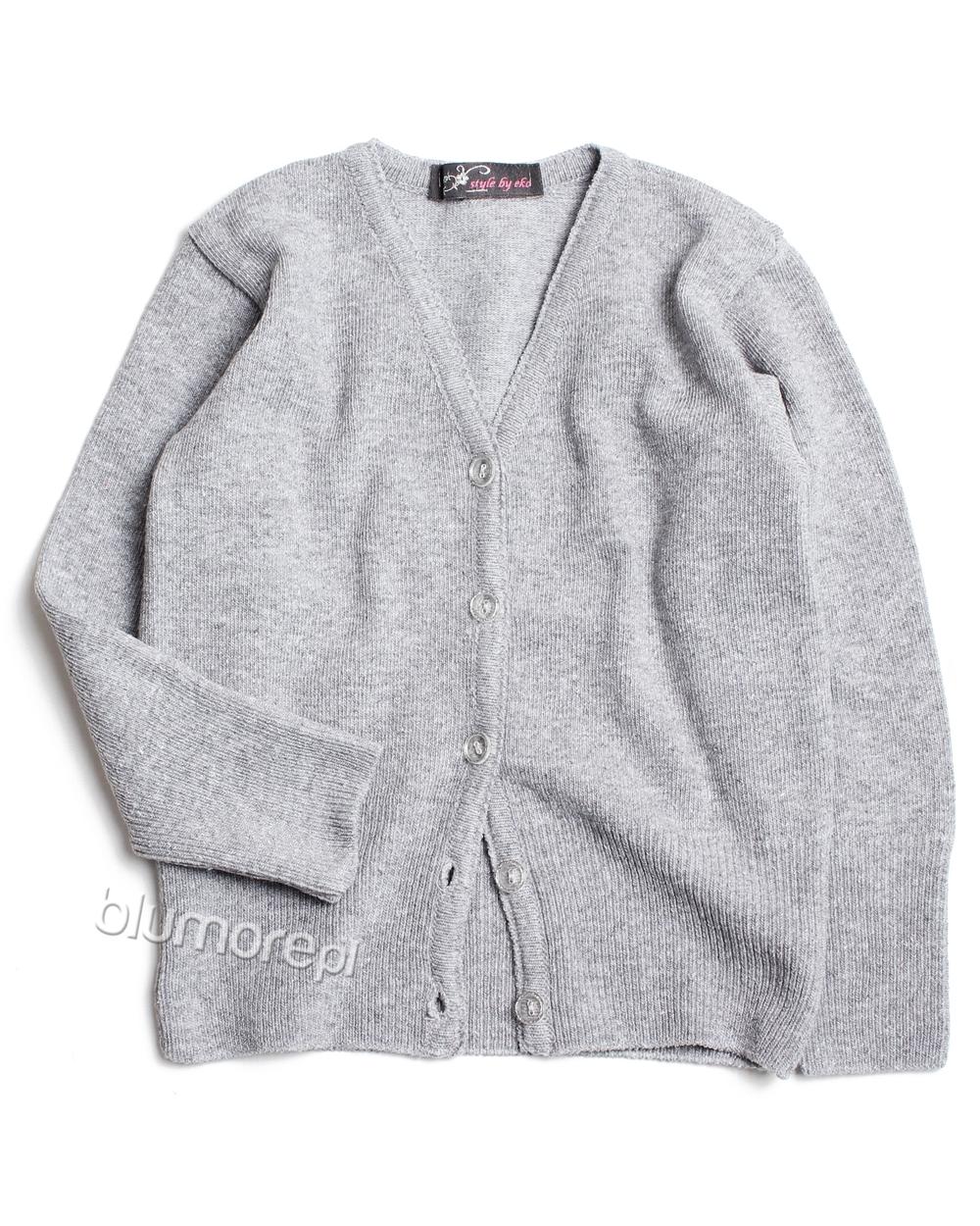 f0bfe8468a Modny sweterek dla dziewczynki 104 - 146 DZ-336 szary