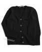 Klasyczny dziewczęcy zapinany sweterek 104 - 146 DZ-336 czarny