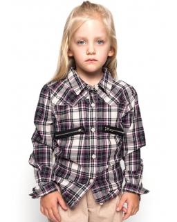 Świetna bawełniana koszula 116 - 146 GCS9764 multikolor