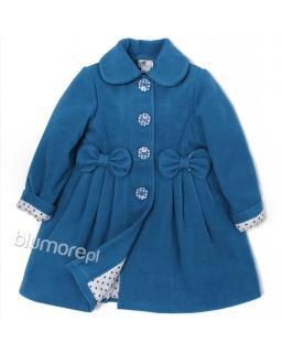 Szykowny ciepły płaszczyk dla dziewczynki 86-134 Kelly niebieski