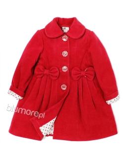 Ocieplony płaszczyk z modną podszewką 86-134 Kelly czerwony