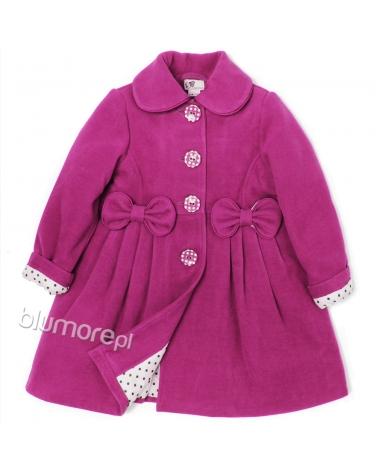 Wytworny płaszczyk dla dziewczynki 86-134 Kelly amarant