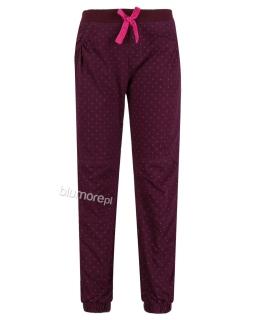 Mięciutkie, wygodne spodnie dziewczęce 98 - 110 Sp04 fiolet