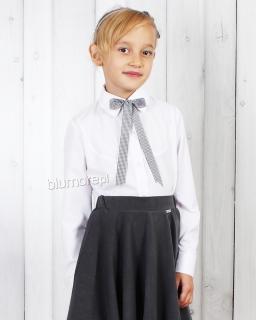 Galowa dziewczęca koszula 128-158 Iwonka biel