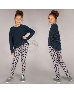 Ciepłe legginsy bawełniane 116 - 158 lgg08 szare