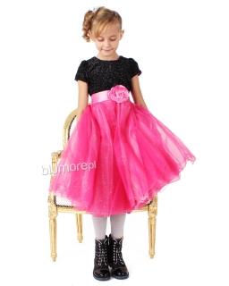 Cudna sukienka na wielkie wyjście 68 - 140 Ismena róż