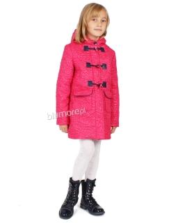 Uroczy płaszczyk z kapturem dla dziewczynki 110 - 140 Dakota róż