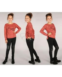 Ciepłe blogerskie legginsy 116 - 158 lgg04 czarne