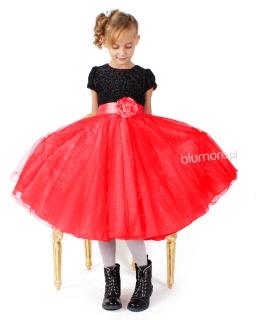 Tiulowa sukienka dla dziewczynki 68 - 92 Ismena czerwona